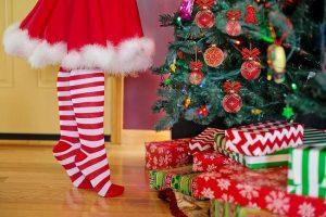sala de estar navideña-